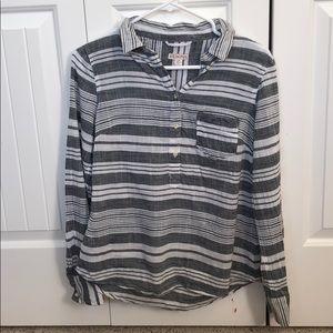Gray and White Stripe Popover